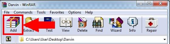 Как заархивировать файлы в RAR