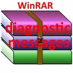 WinRAR diagnostic messages что делать