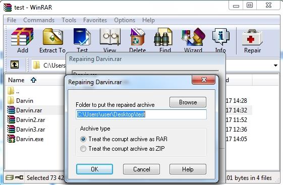 что делать если WinRAR выдает ошибку